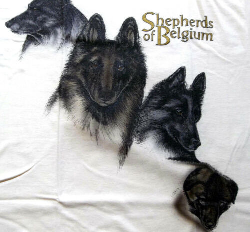 "Belgian Tervuren Shepherd T-shirt  "" Natural "" 3XL ( 54 ~ 56 )"