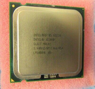 64-bit CPU Intel Xeon Quad Core x3220 4x 2.4 GHz SOCKET 775 8mb cache #31 slact