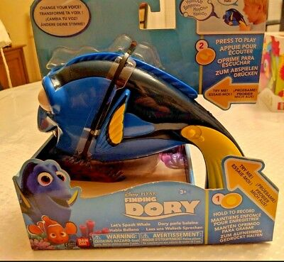 New Disney Pixar Finding DORY Let's Speak Whale Voice  Recorder & Changer