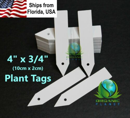 "Plant Tags 4 inch 100pcs. Nursery Labels 4"" Plastic Marker"