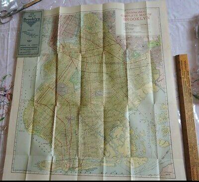 BEST 1912 Brooklyn Pocket Map New York City Subway 21