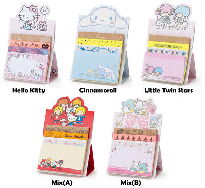 Japan Sanrio Hello Kitty Little Twin Stars Cinnamoroll Sticky Note Pad Tack Memo