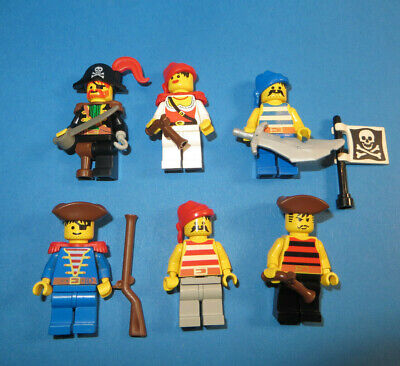 LEGO Figuren Captain Red Beard Piratin Piraten Waffen - Red Beard Pirate