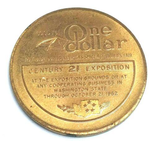 1962 Seattle Century 21 Exposition Token Medallion-One Dollar Trade Token!