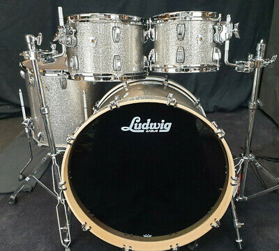 Ludwig USA Drumset Keystone X Pro Beat Titanium Glitter Schlagzeug / Batterie