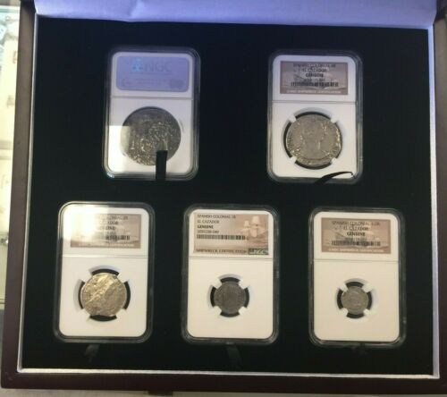 SET OF 5 SPANISH COLONIAL EL CAZADOR NGC SHIPWRECK REALES