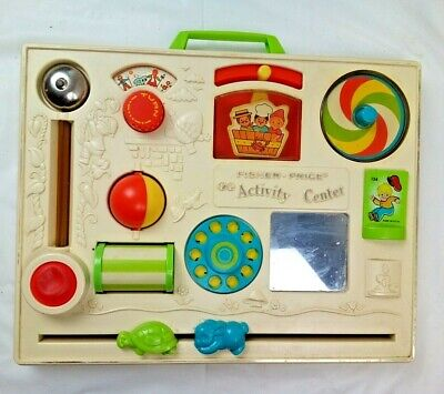 Vintage Fisher Price Activity Center, Baby Nursery Rhyme Learning Crib Toy #124