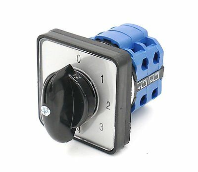 Ac 660v 20a 8 Terminals 5 Position Mounting Rotary Select Cam Changeover Switch