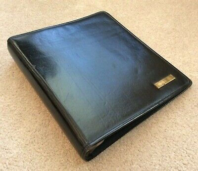 Day-timer Monarchfolio Blk Western Coach Leather Planner Binder Franklin Covey