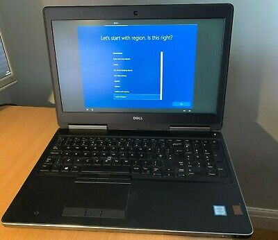 "Dell Precision 7510 15.6"" Intel i7-6920HQ 2.90GHz 8GB DDR4 Quadro M2000M 4GB"
