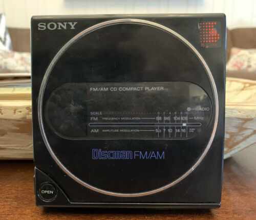 Vintage 1987 Sony Discman Model #D-T3 FM/AM Radio CD Compact Disc Player