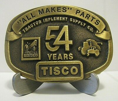 Tractor Implement Supply Company TISCO 54 Year Belt Buckle Ltd Ed 1991 Series 2