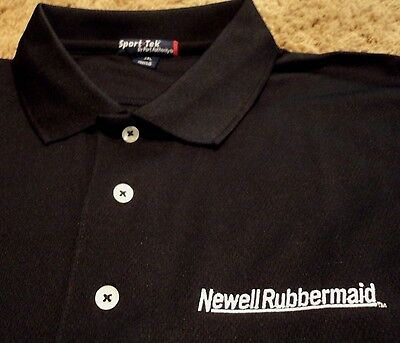 Mens Newell Rubbermaid Global Transportation Black Work Polo Shirt 2Xl