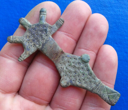 Ancient Bronze Fibula. Very Rare !!!