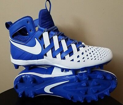 b774e25d861 Mens Nike Huarache Lacrosse Cleats Blue White Size 11.5 Waffle Design Brand  New