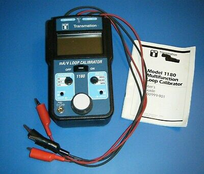 Transmation 1180 Mav Loop Calibrator With Case Manual Tested
