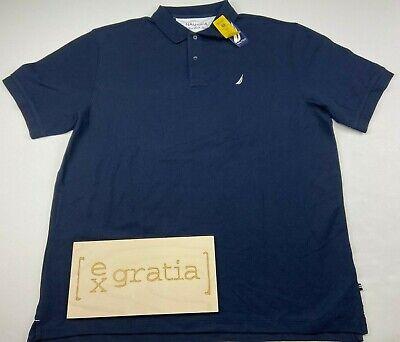Nautica Men's Performance Deck Pique Blue Polo Shirt Size XXL Classic Fit