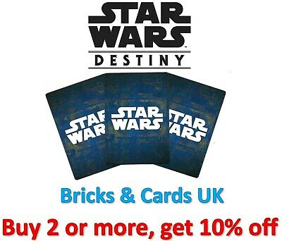 Star Wars Destiny Way of the Force - Legendary & Rare Cards with Dice