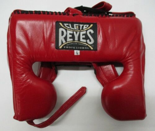 Cleto Reyes Classic Training Cheek Protection Boxing Headgear - Red - LG - Used