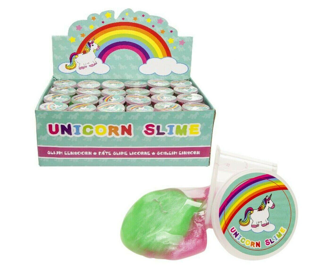 12 x Schleim Einhorn Einhornschleim Unicorn Slime Mitgebsel Kinder Putty Party