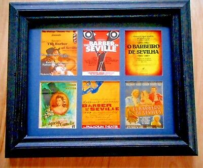 BARBER OF SEVILLE   -  6 MINIATURE OPERA POSTERS IN A FRAME