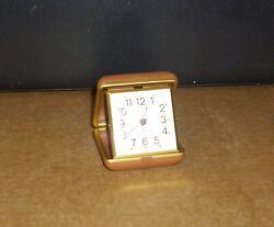 Vintage Westclox Travel Alarm Clock w/Case Working
