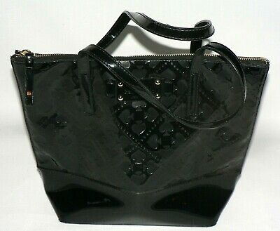 Black Kate Spade Embossed Pocketbook Purse Handbag