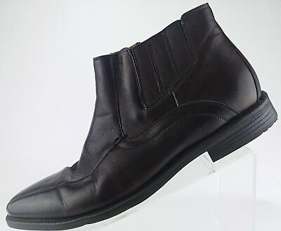 Florsheim Forum Bike Toe Zipper Ankle Boots- Dress Leather Shoe Mens 10.5D -
