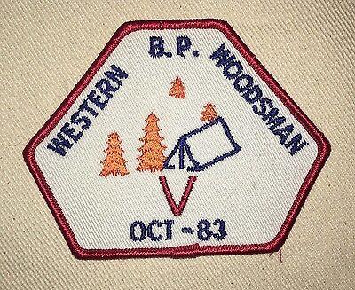 Western Woodsman Patch - Oct '83 - B.P. (Baden Powell)  Boy Scouts