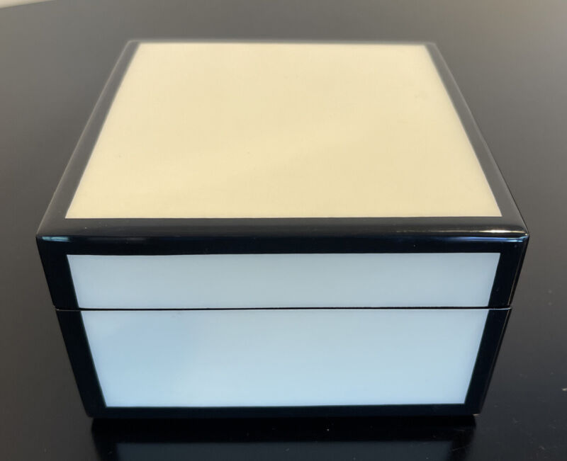 Black White Lacquered Jewelry Box Newman Marcus
