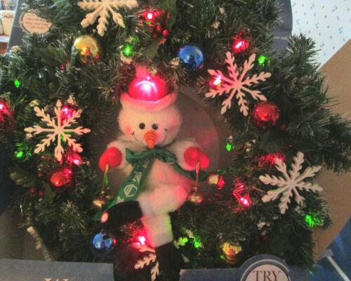 Gemmy Animated Singing Christmas Wreath Light 2004