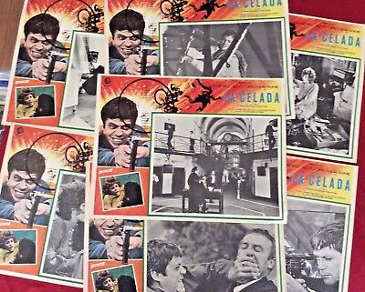 "HARD TO FIND 1972 Mexican Action, Crime Movie Lobby Cards  ""la CELADA"""