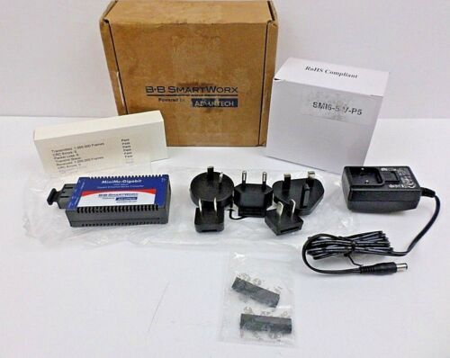 B+B SmartWorx By Advantech 855-10730 MiniMc-Gigabit Ethernet Media Converter NOS