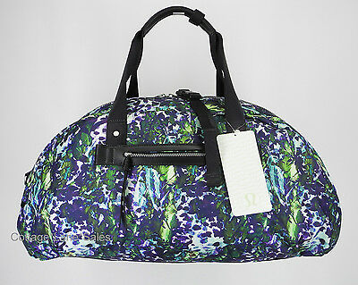 NEW LULULEMON All You Need Duffel Bag Floral Backdrop White Multi Gym FREE SHIP