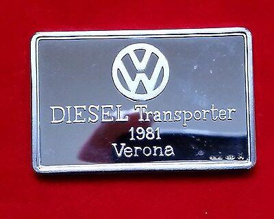 "VW-Motivbarren: ""VW Diesel-Transporter"" Verona 1981 - COA+Box !!"