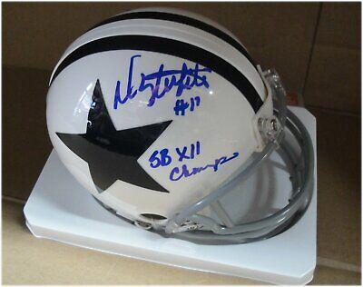 Danny White Hand Signed Auto Mini Helmet Dallas Cowboys SB XII Champs Beckett