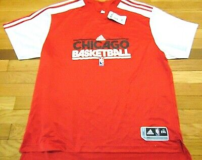ADIDAS NBA AUTHENTIC CHICAGO BULLS SHOOTING SHIRT JERSEY SIZE 2XL