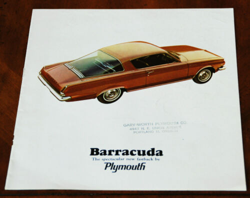 Plymouth Barracuda brochure Prospekt, 1965