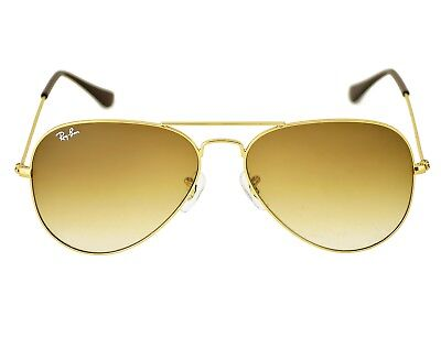 Ray-Ban RB3025 Aviator Gradient 001/51 Gold Frame/Light Brown Gradient Lenses (Aviator Gold Brown Gradient)