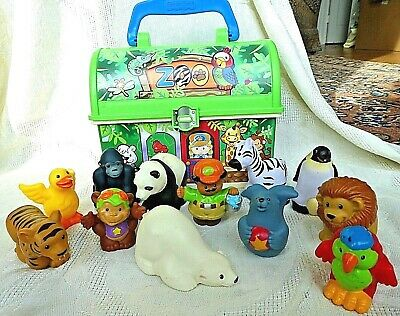 Fisher Price Little People Zoo Lunch Box + Animals & Zookeeper,  13 pc.