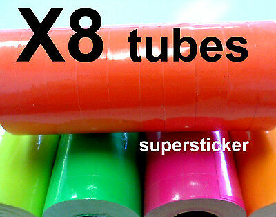 Red Price Tags For Mx-6600 2 Lines Gun 8 Tubes X 11 Rolls X 500