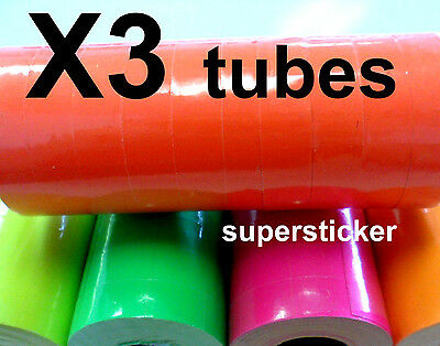 Red Price Tags For Mx-6600 2 Lines Gun 3 Tubes X 14 Rolls X 500