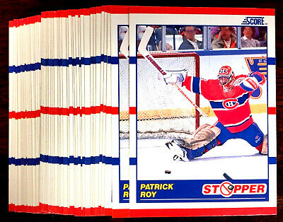 1990 Score PATRICK ROY ~ 50 CARDS LOT ~  STOPPER CARD ~ BEST NHL GOALIE