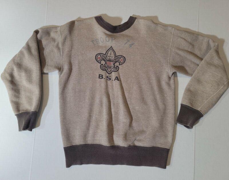 Vintage 1940-50s Boy Scout of America B.S.A. Sweatshirt  Chest 38 100% Cotton