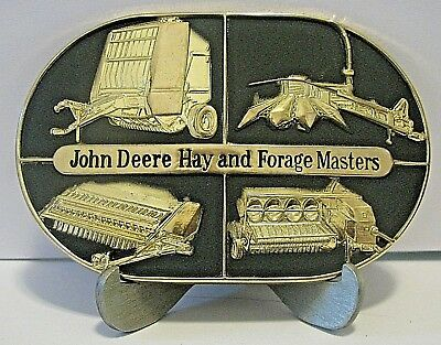 John Deere Hay Forage Masters Belt Buckle 1985 Baler Mower Conditioner Harvester