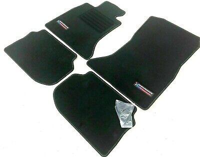 BMW 6er E24 Baujahr ab Octagon Gummi-Fußmatten schwarz Ledereinfassung schwarz