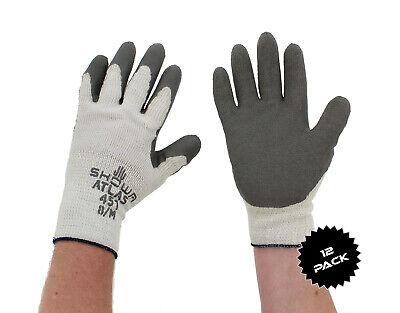 Showa Atlas 451 Gray Thermal Work Gloves Medium 12-pack