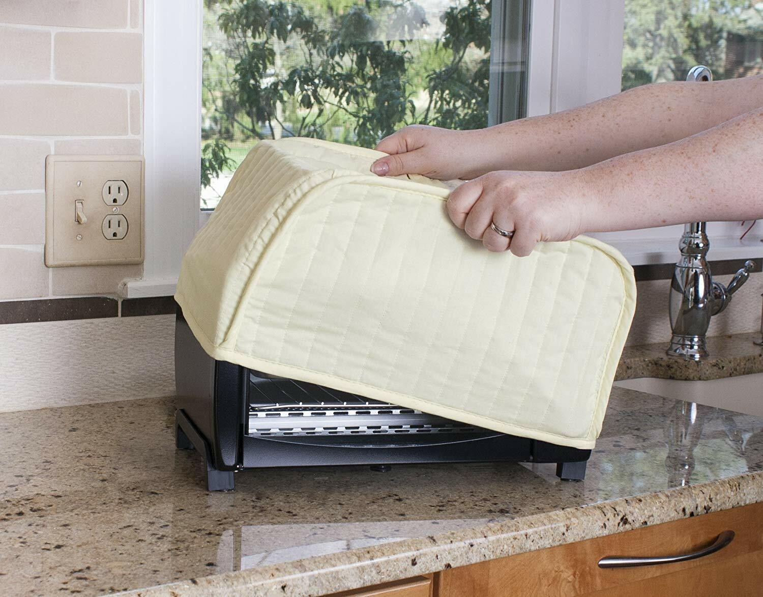 Polyester / Cotton Quilted 4 Slice Toaster Appliance Cover C