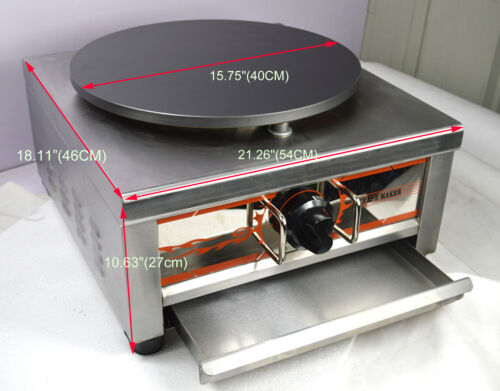 Natural Gas Single Crepe Maker and Pancake Machine