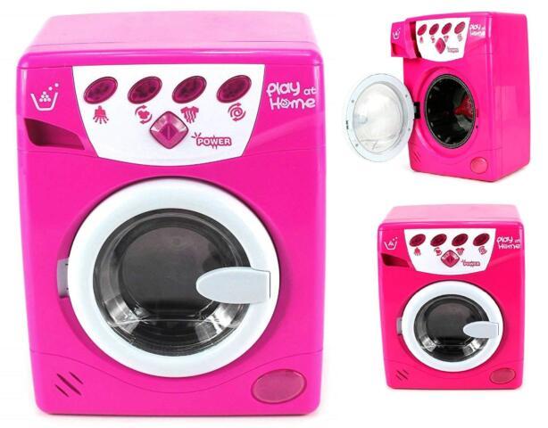 Color Rosa Random Color Juego de rol Tareas del Hogar Mini Washing Machine Muebles Modelo Peque/ños Electrodom/ésticos para Ni/ños Beb/é D-SYANA8 Lavadora El/éctrica Juguete